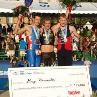 Stu Hayes surprises with a 3rd Place at Hy-vee Triathlon!